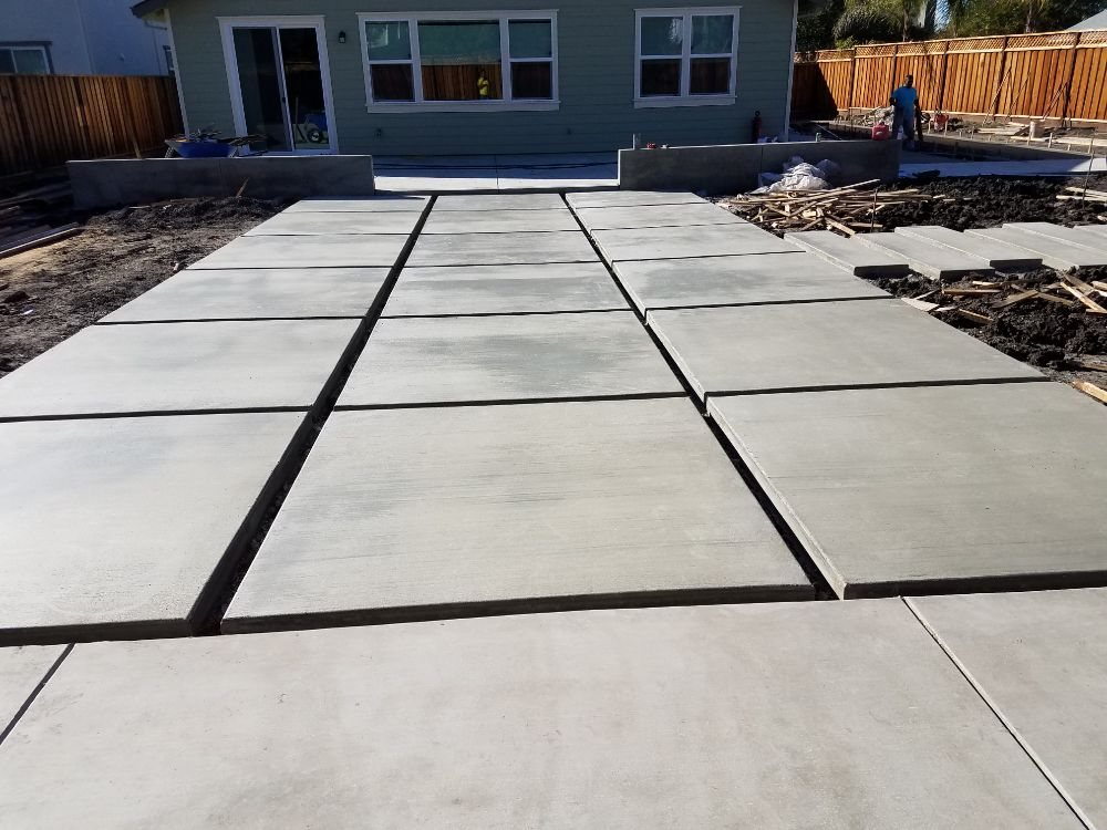 Fire up the grill on a new concrete patio